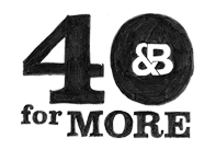 40 For More Logo